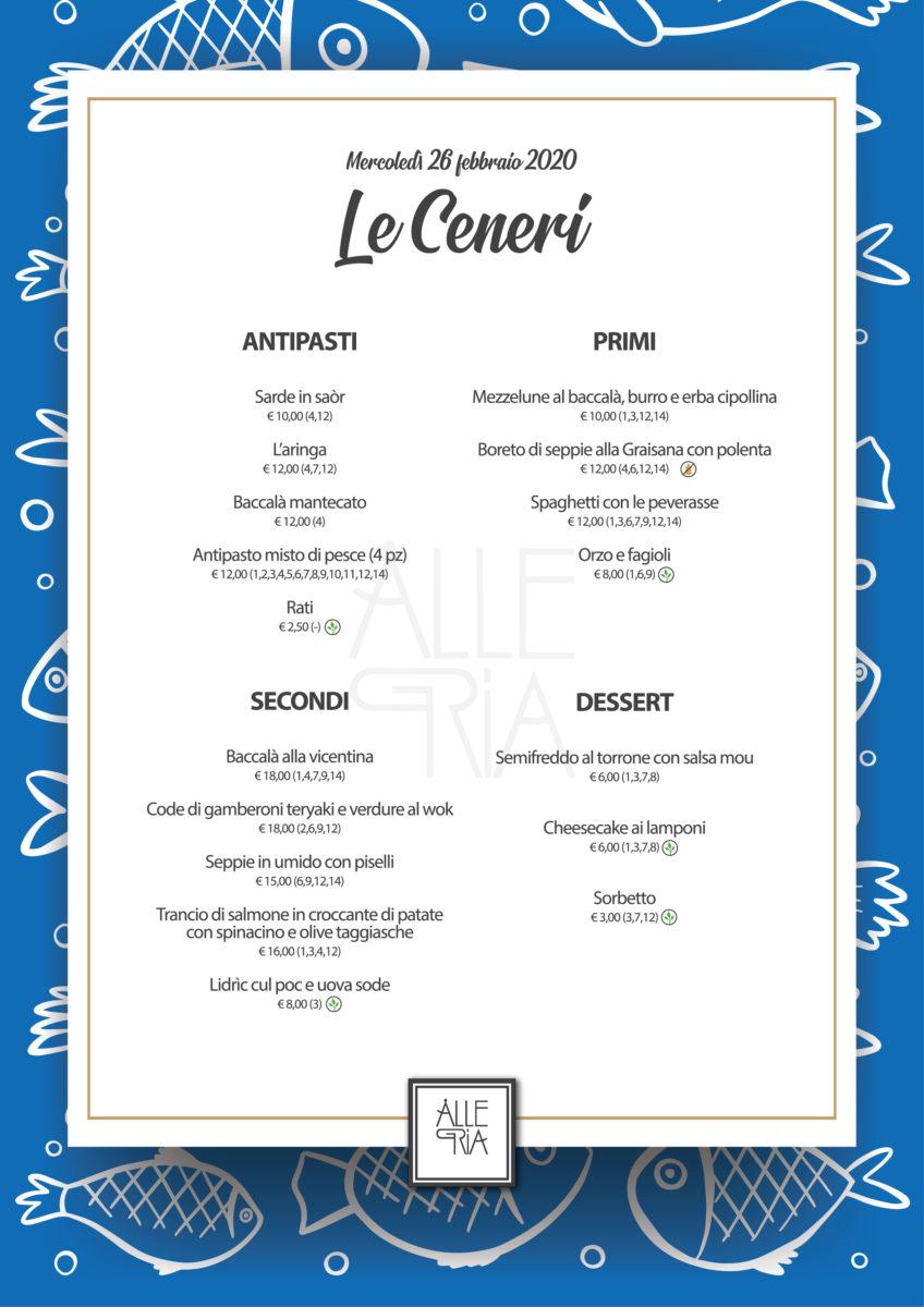 (Italiano) Le Ceneri – 26 Febbraio 2020